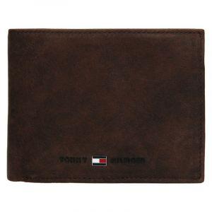Pánská kožená peněženka Tommy Hilfiger Flap – hnědá