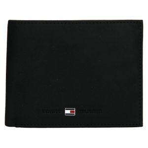 Pánská kožená peněženka Tommy Hilfiger Flap – černá