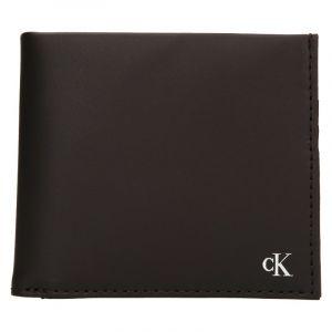 Pánská kožená peněženka Calvin Klein Bill – hnědá