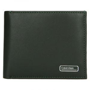 Pánská kožená peněženka Calvin Klein Bifol – zelená
