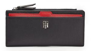 Tommy Hilfiger modrá peněženka Seasonal Slim Wallet