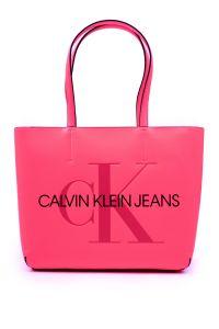 Calvin Klein neonově růžová kabelka Shopper Fluo Pink