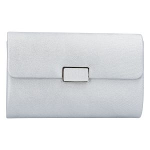 Dámské psaníčko stříbrné – Michelle Moon L6023 stříbrná