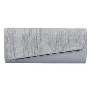 Dámské psaníčko stříbrné – Michelle Moon L1332 stříbrná
