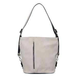 Dámská kabelka přes rameno krémově šedá – Ellis Haarlem šedá