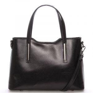 Menší kožená kabelka černá – ItalY Alex černá