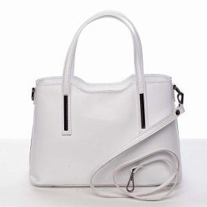 Menší kožená kabelka bílá – ItalY Alex bílá