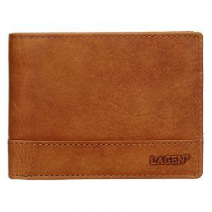 Pánská kožená peněženka Lagen Dusans – světle hnědá