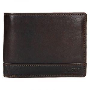 Pánská kožená peněženka Lagen Dusans – tmavě hnědá