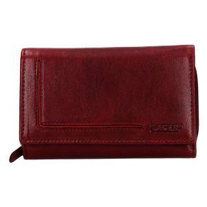 Dámská kožená peněženka Lagen Anitas – vínová