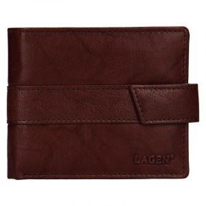 Pánská kožená peněženka Lagen Marian – hnědá