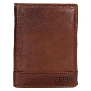 Pánská kožená peněženka Lagen Thores – hnědá