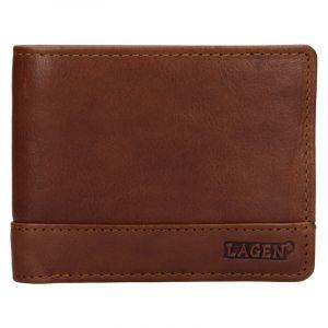 Pánská kožená peněženka Lagen Pavelos – hnědá