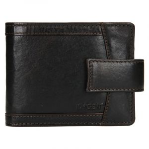Pánská kožená peněženka Lagen Alsung – tmavě hnědá