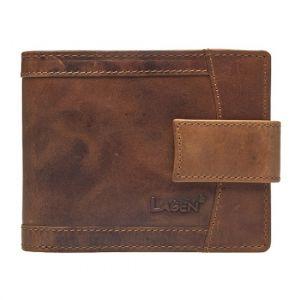 Pánská kožená peněženka Lagen Alsung – světle hnědá