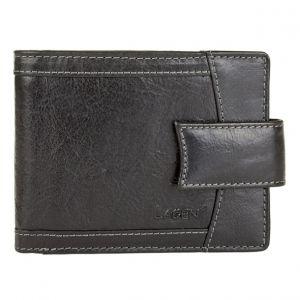 Pánská kožená peněženka Lagen Alsung – černá