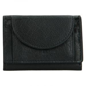 Dámská kožená slim peněženka Lagen Mellba – černá