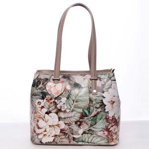 Exkluzivní dámská kožená kabelka pudrová – ItalY Logistilla barevná