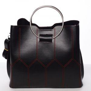 Luxusní dámská kabelka černo červená – Delami Gracelynn černá