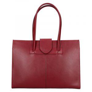 Dámská kožená kabelka Vera Pelle Sirela – tmavě červená