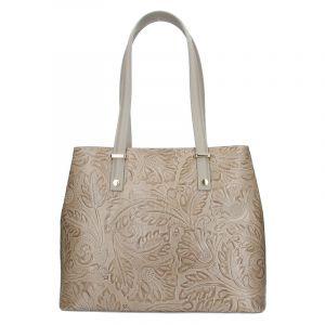 Dámská kožená kabelka Vera Pelle Nicoll – béžová