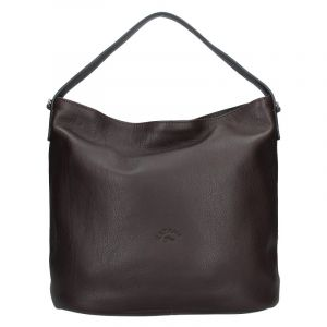 Elegantní dámská kožená kabelka Katana Perra – tmavě hnědá