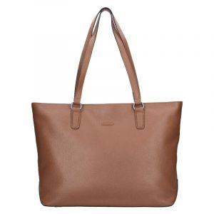 Elegantní dámská kožená kabelka Katana Argenta – starorůžová