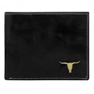 Pánská kožená peněženka Wild Buffalo Bohuš – černá