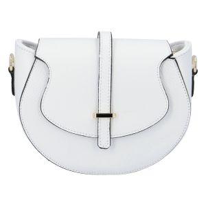 Dámská kožená crossbody kabelka bílá – ItalY Blauke bílá