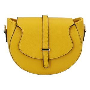 Dámská kožená crossbody kabelka žlutá – ItalY Blauke žlutá