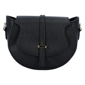 Dámská kožená crossbody kabelka černá – ItalY Blauke černá