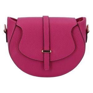 Dámská kožená crossbody kabelka fuchsiová – ItalY Blauke fialová