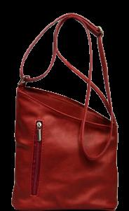 Kožená červená kabelka Angola Rossa