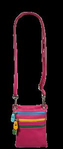 Malá Italská kožená kabelka Luna Fuxia
