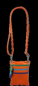 Malá Italská kožená kabelka Luna Arancione