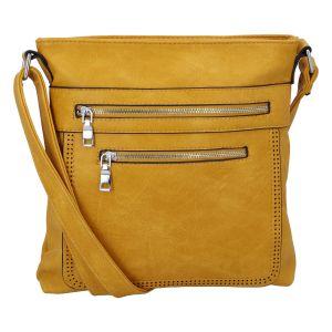 Moderní střední crossbody kabelka žlutá – Delami Karlie žlutá