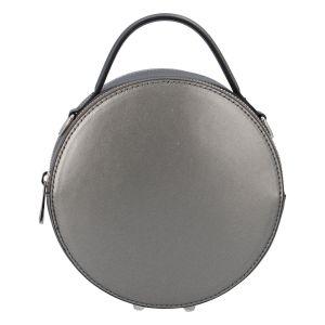 Malá tmavě stříbrná elegantní dámská kožená kabelka – ItalY Husna stříbrná