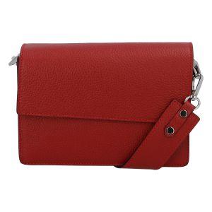 Elegantní kožená kabelka tmavě červená – ItalY Kenesis červená