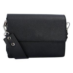 Elegantní kožená kabelka černá – ItalY Kenesis černá