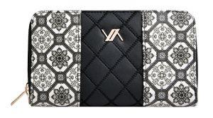 Verde Dámská peněženka 18-1072 Black/white