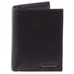 Pánská hladká kožená peněženka černá – Bellugio Cadmus černá