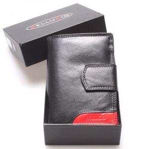Luxusní větší dámská kožená peněženka černá – Bellugio Calista černá