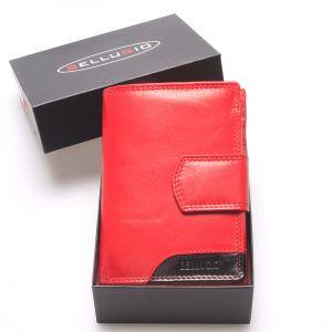 Luxusní větší dámská kožená peněženka červená – Bellugio Calista červená