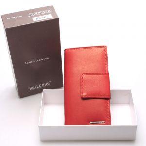 Velká dámská kožená peněženka červená – Bellugio Glykys červená