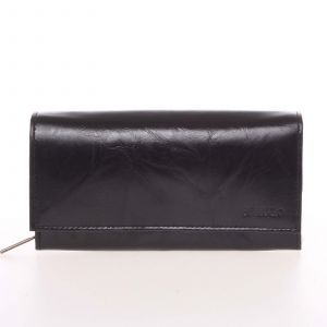 Velká dámská černá kožená peněženka – Bellugio Otilia černá