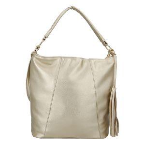 Módní dámská kabelka zlatá – Carine Baylee zlatá