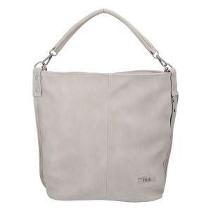 Elegantní dámská kabelka přes rameno krémově šedá – Ellis Negina šedá