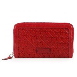 Uniko Dámská zipová peněženka Montparnasse 017518 – červená