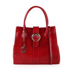Sněžka Náchod Dámská kožená kabelka do ruky 5068 – červená