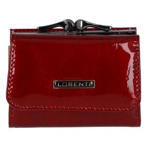 Dámská kožená lakovaná peněženka červená – Lorenti Bipila červená
